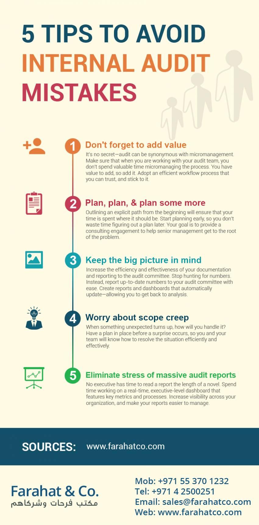 5 Tips to Avoid Internal Audit Mistakes