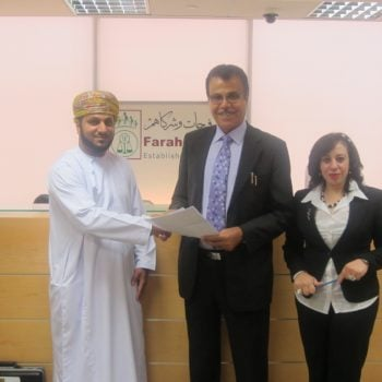 Dubai – July 2013 signing agreement with Turki Al Mamari Advocates and Legal consultants in Oman