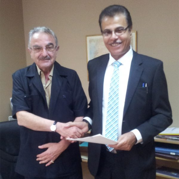 Beirut – July 2013 signing a collaboration agreement with the Arab Anti- Corruption Organization