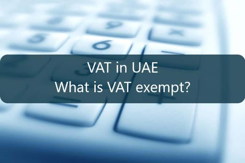 vat exempt items in uae