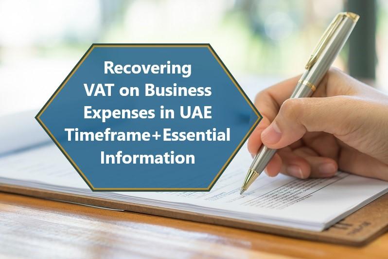 Reclaiming VAT on Expenses in the UAE