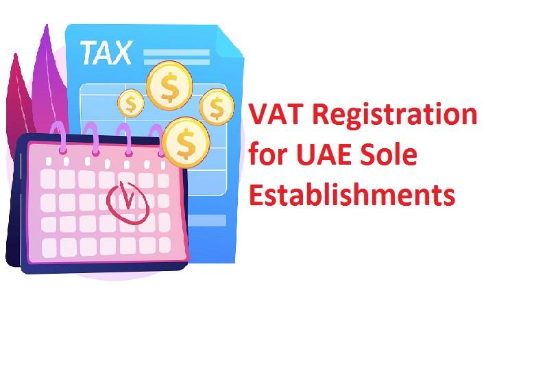 VAT Registration for UAE Sole Establishments