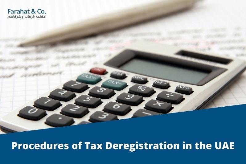 Tax Deregistration in the uae