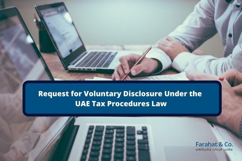 vat voluntary disclosure uae
