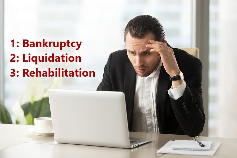 Bankruptcy Liquidation and Rehabilitation in UA